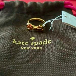Kate Spade Bow Ring Gold Brass Size 6 NWT
